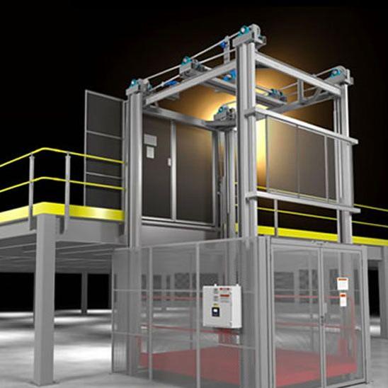 Mechanical 4-Post Lift Dimensional Drawing