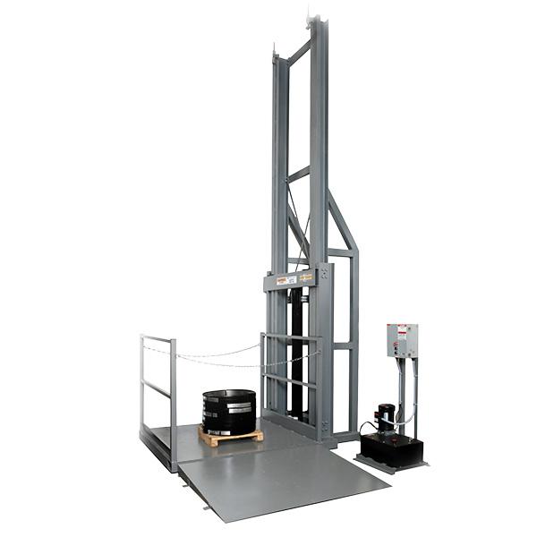 Hydraulic V-Lift Dimensional Drawing